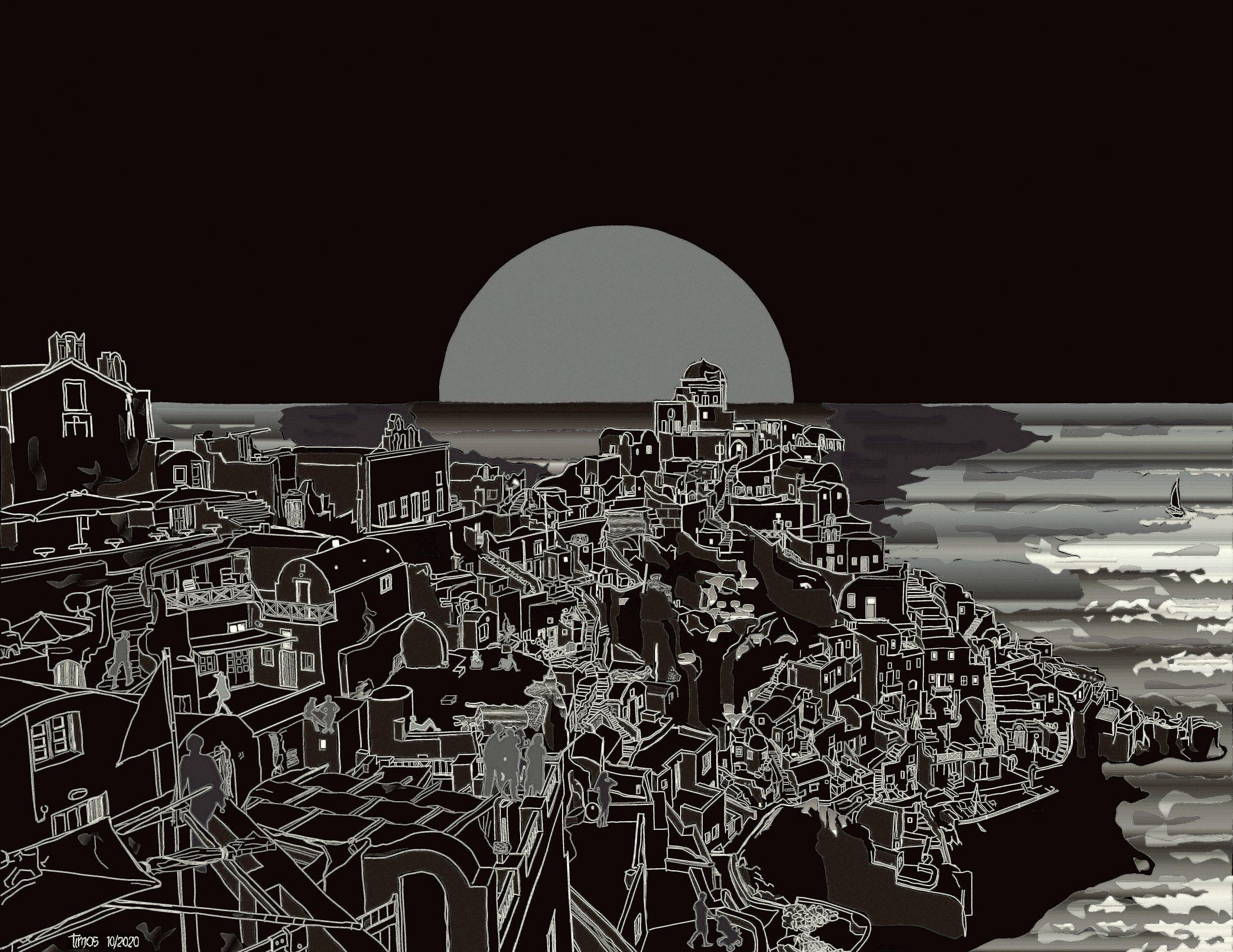 Santorini canvas | 10.23.2020