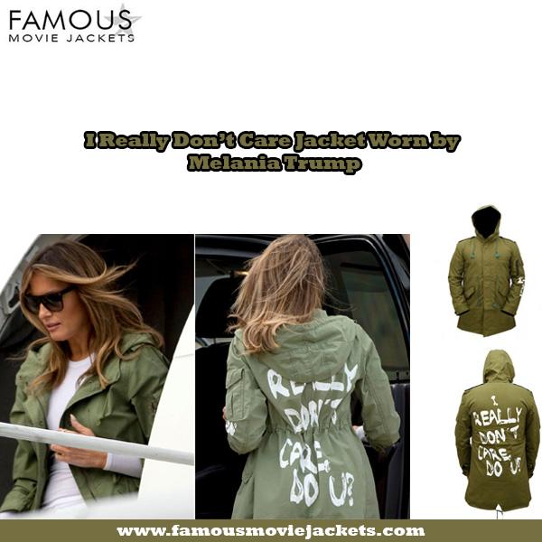 I Really Don't Care Jacket Worn by Melania Trump