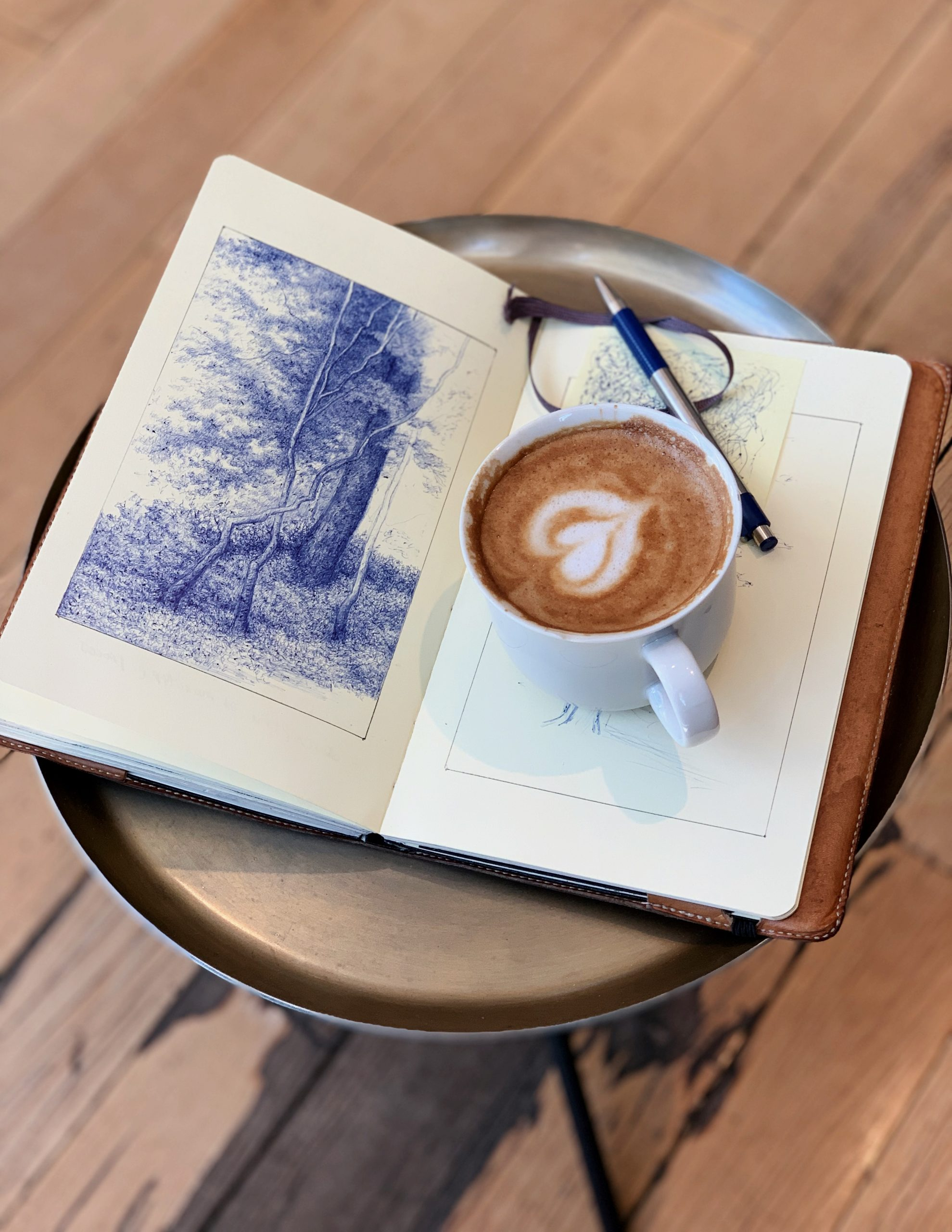 Coffee and Ink, nothing pairs a drawing session better than a cup of coffee. 8038E61F-E08B-41AF-BCA7