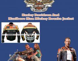 Harley Davidson And Marlboro Man Micky Rourke Jacket