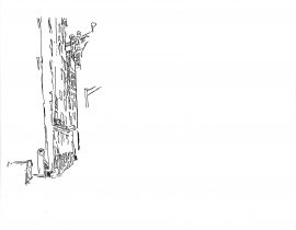 drawing the Manhattan Bridge from Dumbo, Brooklyn | 01.15.2021