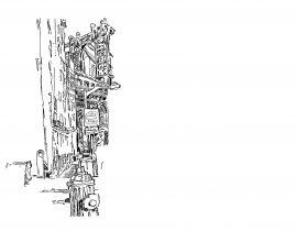 Drawing the Manhattan Bridge from Dumbo | 01.20.2021