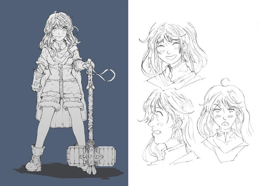 Hammer Girl Character Design
