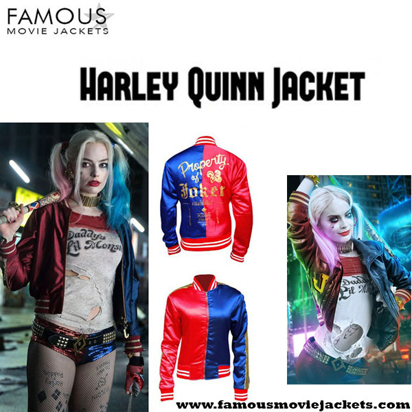 Margot Robbie Suicide Squad Harley Quinn Costume Jacket