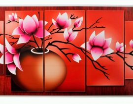 Extrude Art Work Elegant Red Wall décor
