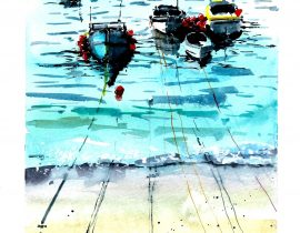 Boats watercolor series… #1