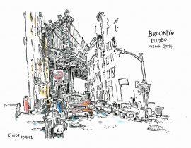 Drawing the Manhattan Bridge from Dumbo | 02.03.2021