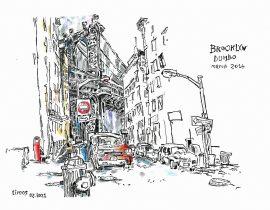 Drawing the Manhattan Bridge from Dumbo | 02.04.2021