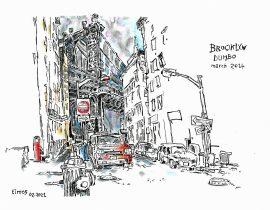 Drawing the Manhattan Bridge from Dumbo | 02.05.2021