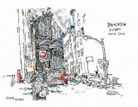 Drawing the Manhattan Bridge from Dumbo | 02.07.2021