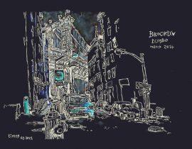 Drawing the Manhattan Bridge from Dumbo | 02.08.2021
