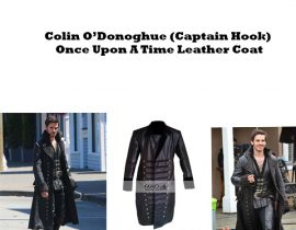 Once Upon A Time Colin O'Donoghue Captain Hook  Leather Coat