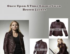 Once Upon A Time Emma Swan Brown Jacket