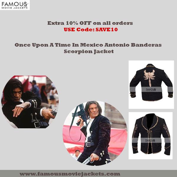 Once Upon A Time In Mexico Antonio Banderas Scorpion Jacket