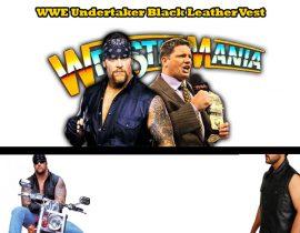WWE Undertaker Black Leather Vest
