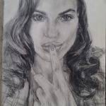 Lana in pencil