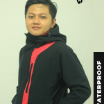 jaket best seller hitam dan merah