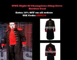 WWE Night Of Champions Sting Steve Borden Coat