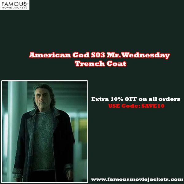 American God S03 Mr. Wednesday Trench Coat