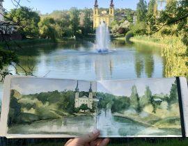 Feneketlen tó park in Budapest