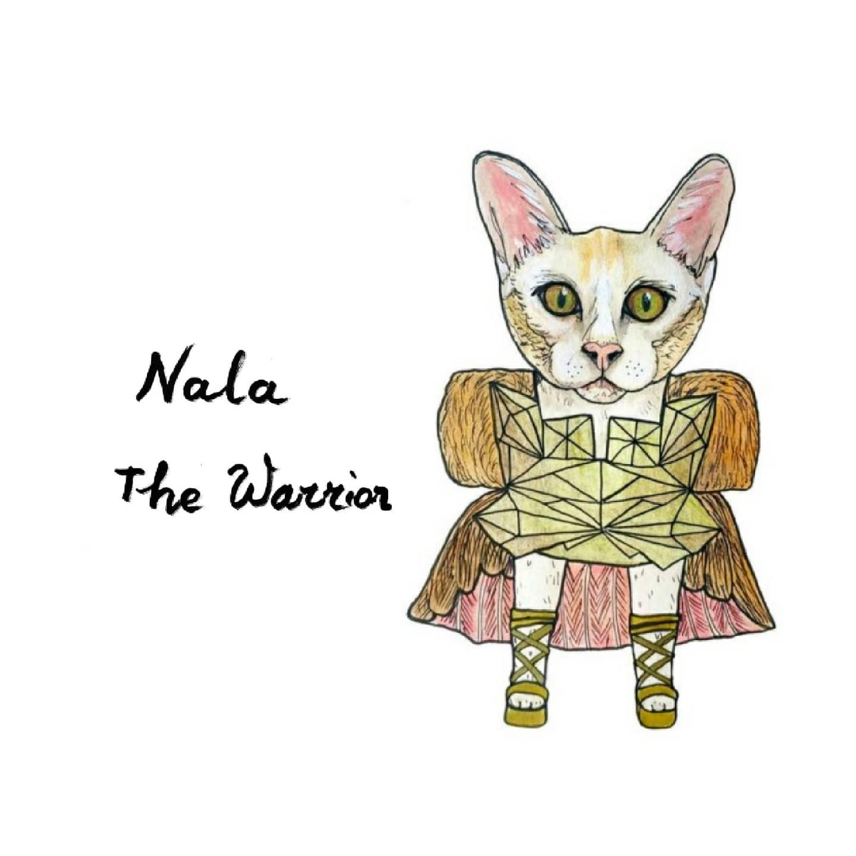 Nala the warrior pet portrait