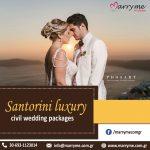 Santorini Luxury Civil Wedding Packages
