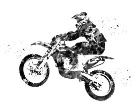 Motocross Dirt Bike by Erzebet