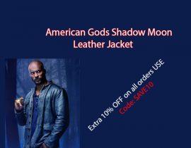 American Gods Shadow Moon Leather Jacket