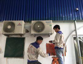 Trung tâm điện lạnh Quang Dũng trong quá trình làm việc