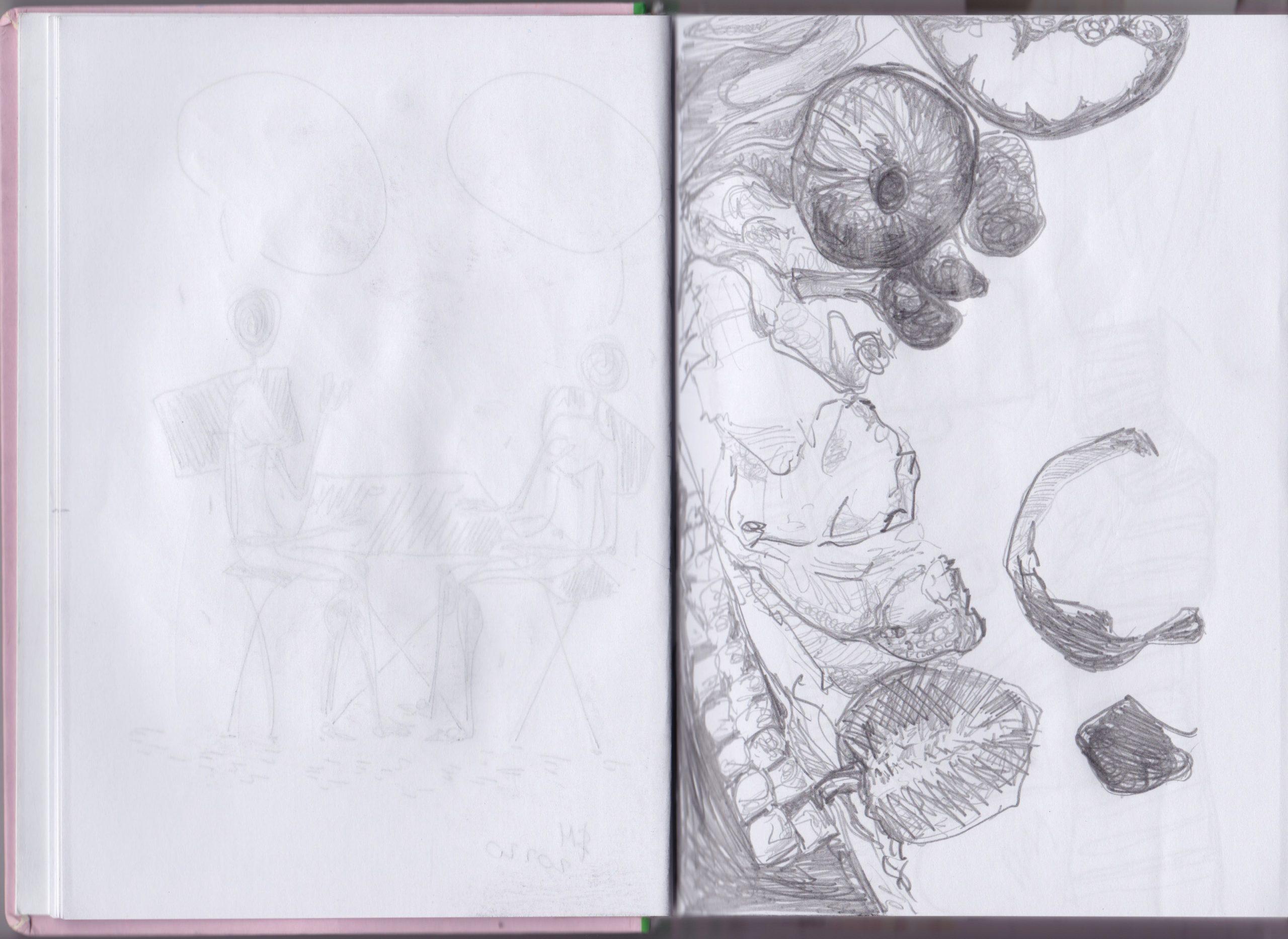 Art journal   Sketches    10 way to Improve your sketchbook