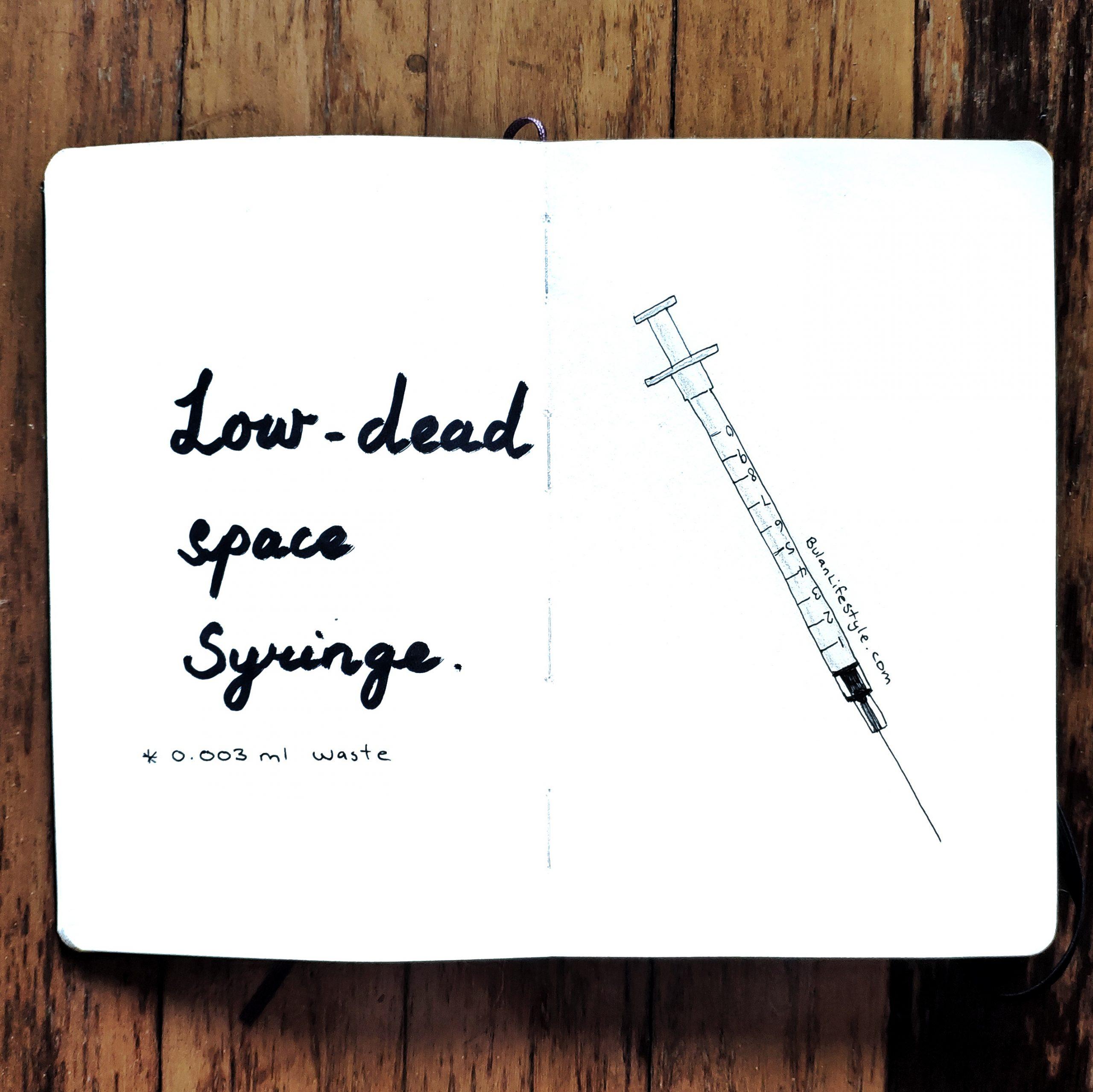 Low dead space syringe