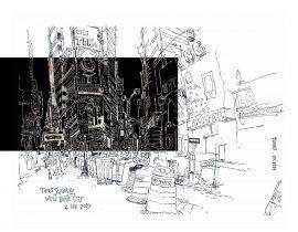 Times Square / black on white