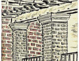 brownstone roof, detail