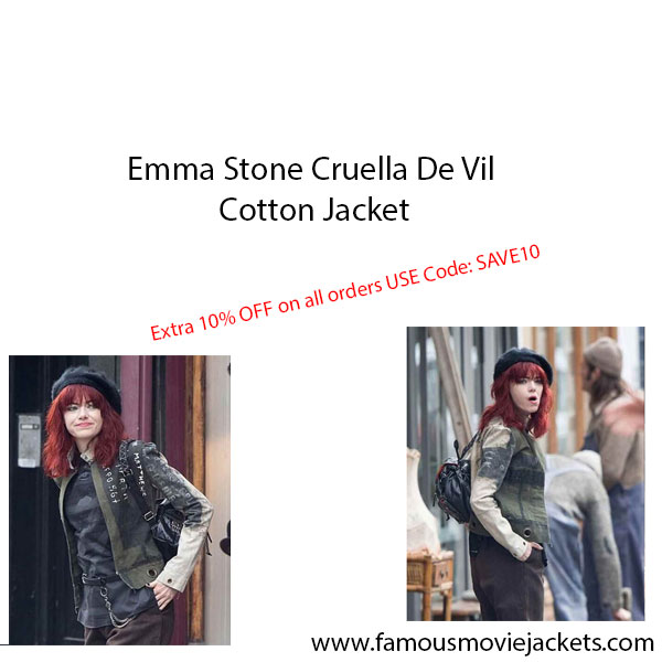 Emma Stone Cruella De Vil Cotton Jacket