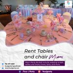 Rent Tables And Chair Miami