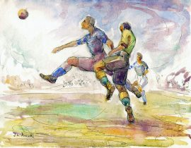 Inspired by Footy Watercolour