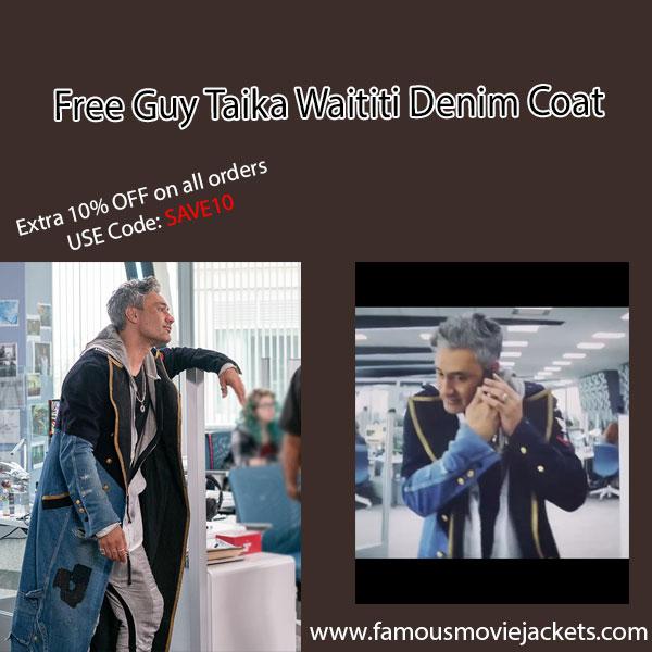 Free Guy Taika Waititi Denim Coat