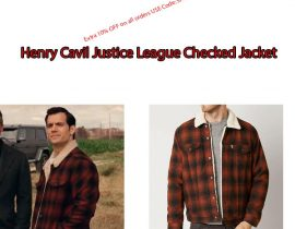 Henry Cavil Justice League Checked Jacket