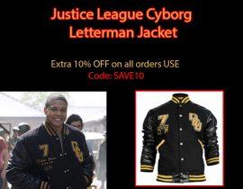 Justice League Cyborg Letterman Jacket