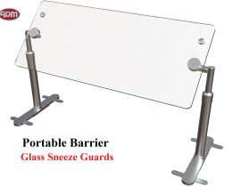 ADM Sneezeguards – Portable Barrier – Glass Sneeze Guards
