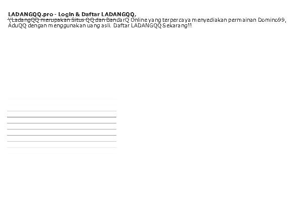 'LADANGQQ.pro – Login & Daftar LADANGQQ,'
